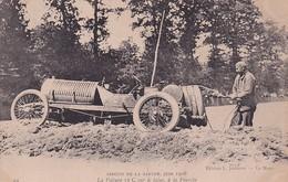 D72  Circuit De La Sarthe 1906   La Voiture 12 C Sur Le Talus à La FOURCHE - Le Mans