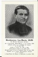 Feuillet Double à La Mémoire De Luc Martin Huin - Né à Guyonvelle-Vicaire à Voisey-Décapité En 1866 Béatifié Montbeton - Religion & Esotérisme