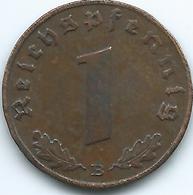 Germany - 3rd Reich - 1 Pfennig - 1938 B - KM89 - 1 Reichspfennig