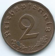 Germany - 3rd Reich - 2 Pfennig - 1938 E - KM90 - [ 4] 1933-1945 : Third Reich