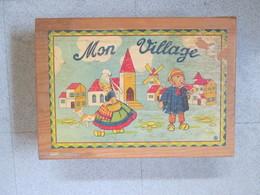 Jeu De Construction Ancien En Bois Dans Sa Boite D Origine . Moulin - Other Collections