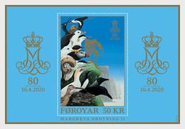 Faeroër / Faroes - Postfris / MNH - Sheet 80 Jaar Koningin Margrethe 2020 - Islas Faeroes