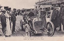 D72  Circuit De La Sarthe 1906   Voiture De Grégoire 9 B Au Pesage - Le Mans
