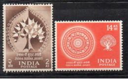 India - 1956 - Nuovo/new MNH - Buddha - Mi N. 256/57 - 1950-59 Republic