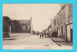 RARE CPA GIDY : Route D'Orléans Et Le Café Legendre - Animée - Ed. Legendre - Circulée - 2 Scans - Autres Communes
