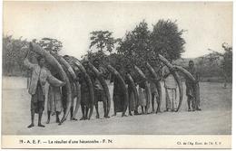 AFRIQUE - A.E.F. - LE RESULTAT D'UNE HECATOMBE - F.N. - Hommes Avec Des Défenses D'éléphant - Other