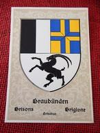 SUISSE -  SCHWEIZ - GRISONS - GRAUBÜNDEN - GRISCHUN - GRIGIONE - Armoiries , Wappen , Stemma - GR Grisons
