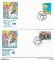 L4S031 NATIONS UNIES 1988 N Y FDC Health In Sport 25c 38 C 17 06 1988 /2 Envel.  Illus. - New-York - Siège De L'ONU