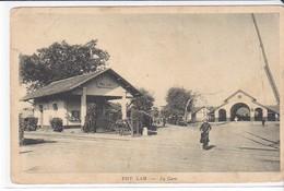 Cpa Old Pc Indochine Vietnam Phu Lam Gare Railway Station - Viêt-Nam