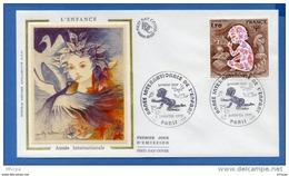 L4T460 FRANCE 1979 FDC Enfance 1,70f Paris 07 01 1979 /env. Illus. - 1970-1979