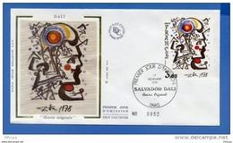L4T494 FRANCE 1979 FDC Salvador Dali 2,00f  Paris 17 11 1979/env. Illus. - Moderne