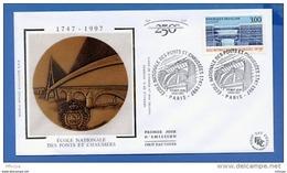 L4T747 FRANCE 1997 FDC Ecole Nationale Des Ponts Et Chaussées 3,00f Paris 14 02 1997/env. Illus. - 1990-1999