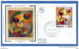 L4T944 FRANCE 1976 FDC Joie De Vivre R Delaunay 2,00f Paris 24 07 1976/env. Illus. - Moderne