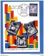L4T996 FRANCE 1976 C M JdT 3 Projets Sage 0,80+0,20f Tourcoing 13 03 1976/  Carte Ecrite. - Cartes-Maximum