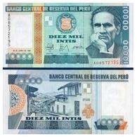 Billet Pérou 10 000 Intis - Pérou