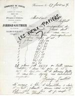 88 - Vosges - REMIREMONT - Facture JARRIGE-GAUTHIER - Commerce De Fontes Et Meubles - 1907 - REF 137A - 1900 – 1949
