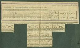 """Dresden Sachsen 1917 Lebensmittelkarte Bezugsschein """" Für Öl-Eier-Tee-Kaffee """" Coupon D'Achat Ravitaillement - Documentos Históricos"""