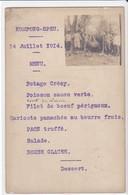 Cpa Old Pc Cambodge 1914 Menu Photo Chasse Kompong Speu - Menus
