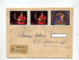 Lettre Recommandée Paris 90 Sur La Tour Chapelle - Postmark Collection (Covers)