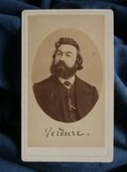 Photo CDV E. Gatel à Paris - Le Communard Augustin Verdure Instituteur Commune De Paris 1871 L270 - Old (before 1900)