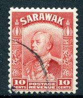 Sarawak 1934-41 Sir Charles Vyner Brooke - 10c Scarlet HM (SG 113) - Sarawak (...-1963)