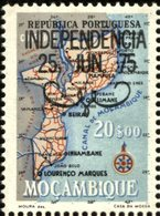 MOZAMBIQUE, 1975, MAPA, BLACK OVERLOAD, R#18A, MNH - Mozambique