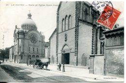 N°71189 -cpa Le Havre -école Et église Saint Joseph- - Autres