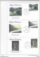 L4U044 POLYNESIE FRANCAISE 1994 FDC Tahiti Autrefois Les Districts 22 26 51f Papeete 10 08 1994/ 3 Envel.  Illus. - FDC