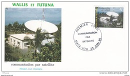 L4U048 WALLIS ET FUTUNA 1994 FDC 1793 Communication Par Satellite 10f  Mata-Utu 23 06 1994/envel.  Illus. - FDC