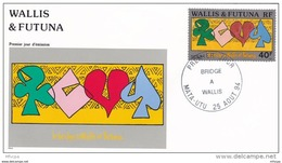 L4U051 WALLIS ET FUTUNA 1994 FDC Bridge A Wallis 5f Mata-Utu 25 08 1994/envel.  Illus. - FDC