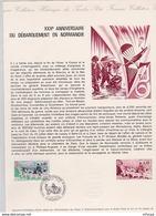L4U310 France Document XXXé Anniversaire Débarquement En Normandie Arromanches 06 06 1974 - Postdokumente