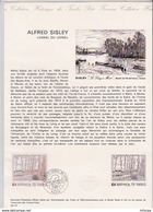 L4U312 France Document Alfred Sisley Canal Du Loing 2,00f Paris 8 11 1974 - Postdokumente