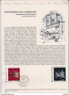 L4U313 France Document Tapisserie Des Gobelins 2,00f Creteil 16 11 1974 - Postdokumente