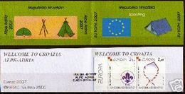 """CROACIA// HRVATSKA// CROATIA // KROATIEN -EUROPA  2007-""""A CENTENARY SCOUT - EUROPA-CEPT""""- CARNET - 2007"""