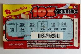 Billet De Loterie Instantanée,  10 X. Portugal - Billets De Loterie