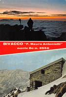 """7601 """" BIVACCO P. MAURO ANTONIOTTI-MONTE BO M.2556 """" 2 VEDUTE -CARTOLINA POST. ORIG. NON SPEDITA - Biella"""