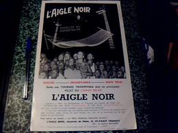 """Affiche 20 X 35 Cm Belgique Spectacle """"l'aigle Noir """" De St Vaast En Tournée Au Congo Belge Annee 50? - Affiches"""