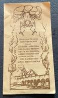 "Santino  - Holy Card "" 50 Anniversario Tempio Ancelle S.Cuore Gesù "" Lugo 1949 - Religion & Esotérisme"