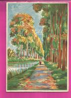 CP Double - BARRE-DAYEZ N° 12549 A Promenade Chemin De Halage - Cartes Postales