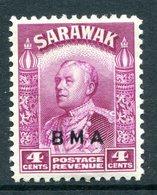 Sarawak 1945 British Military Administration - 4c Bright Purple HM (SG 129) - Sarawak (...-1963)