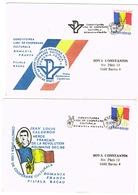 DEUX ENVELOPPES LIGUES DE COOPERATION CULTURELLE FRANCO-ROUMAINE - Poststempel (Marcophilie)