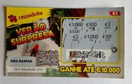 Billet De Loterie Instantanée,  Verão Supresa. Portugal - Billets De Loterie