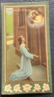 """Antico SANTINO-  Holy Card """" ECCE ANCILLA  DOMINI """"  Ed. NB 9016 - Religion & Esotérisme"""