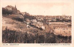 Granville (50) - Vue Générale Sur Les Bassins Et La Haute Ville - Granville