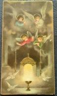 "Antico SANTINO -  Holy Card "" CALICE , EUCARESTIA , ANGELI, COLOMBE ""  Ed. FO 56 - Religion & Esotérisme"