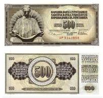 Billet Yugoslavie 500 Dinars - Yugoslavia