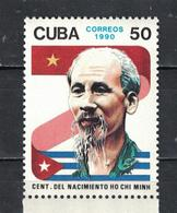 Cuba 1990 The 100th Anniversary Of The Birth Of Ho Chi Minh, Vietnamese Leader  (MNH)  - State Leaders - Cuba