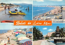 Cartolina Latina Mare Vedute Spiaggia Paese 1966 - Latina