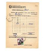 P0771 POSTE ITALIANE SERVIZIO NOTA DELLE CORRISPONDENZE TASSATE MOD.32-O CASTELLI L. 1.000 ISOLATO - 1946-.. République