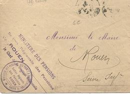 Cachet Militaire : 76 ROUEN - Guerre De 1914-18